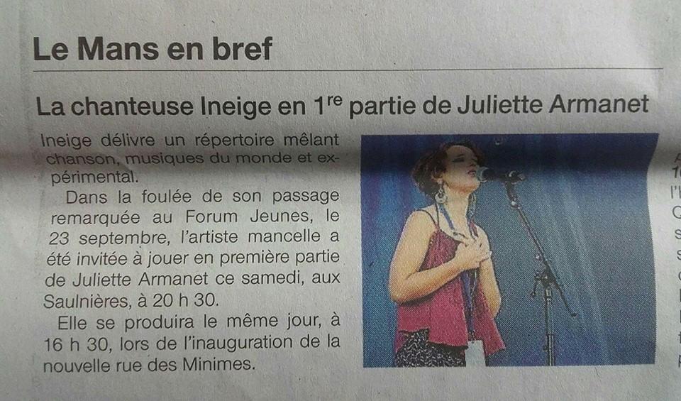 Ouest France - Semptembre 2017