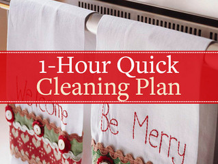 1-Hour Quick Cleaning Plan