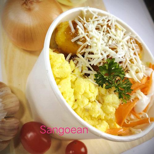 SANGOEAN Ricebowl Bola Nugget Teriyaki
