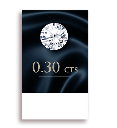 E Color ( 99% )  0.30 Carat , Clarity : VS1