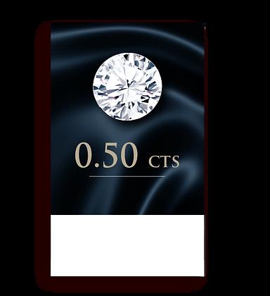 E Color ( 99% ) 0.50 Carat , Clarity :VS2