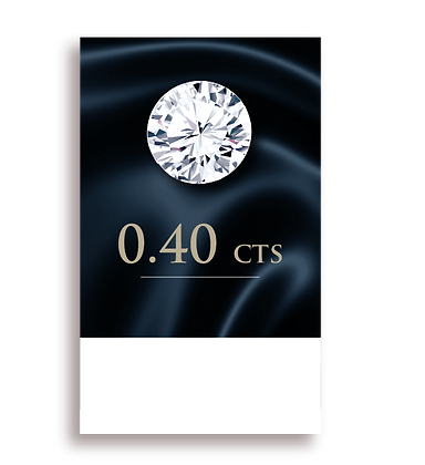 D Color ( 100% ) 0.40 Carat , Clarity : VS2
