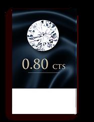 D Color ( 100% ) 0.80 Carat , Clarity : VS1