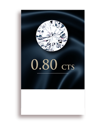 G Color ( 97% ) 0.80 Carat , Clarity : VS1