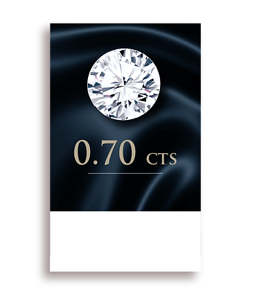 D Color ( 100% ) 0.70 Carat , Clarity : VS2