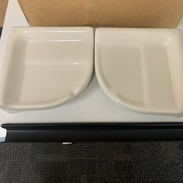 ceramic bathroom dish corners