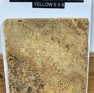 turkish tumbled travertine/yellow 6x6