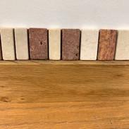 tumbled stone listello/valley travertine 1.5x10