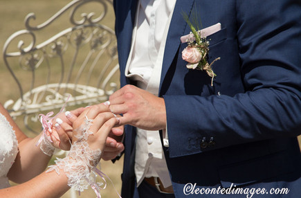 photo de mariage-remise des alliances