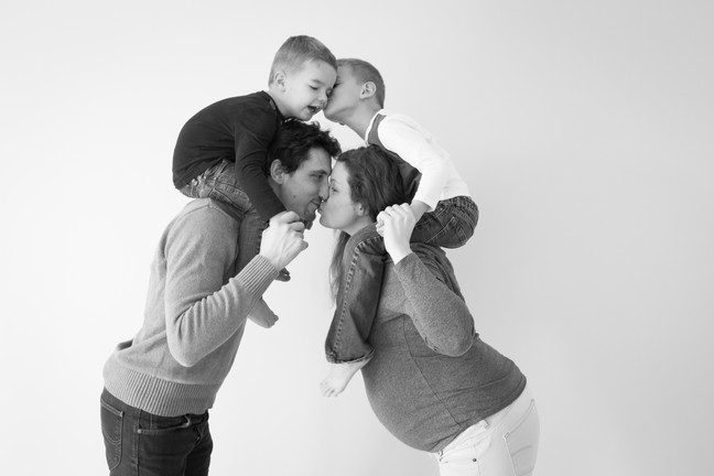 photo de grossesse, famille