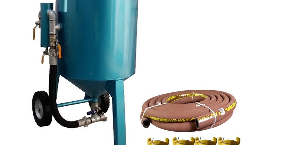 Sand blast  270 kg kit - olla y manguera - conexiones