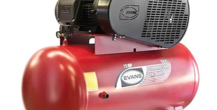Compresor 2 etapas 15 HP 500L Evans
