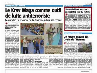 Le Krav Maga mis à l'honneur dans la presse Belge