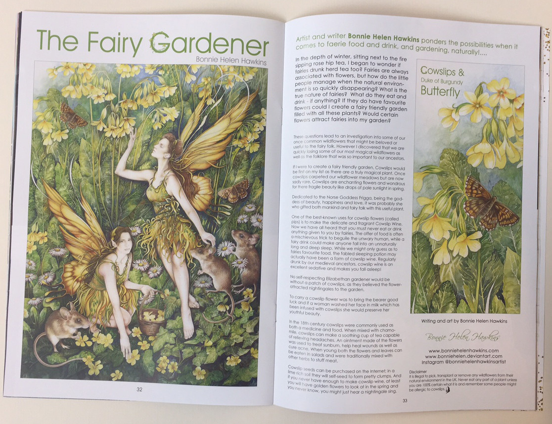 The Fairy Gardener - Double page spread