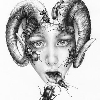 Girl & Beetles