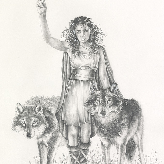 January with wolves
