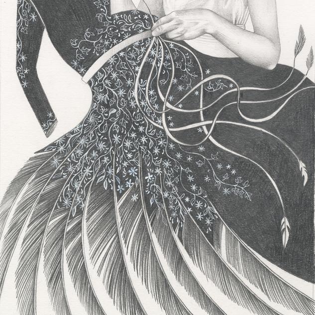 Black wing dress