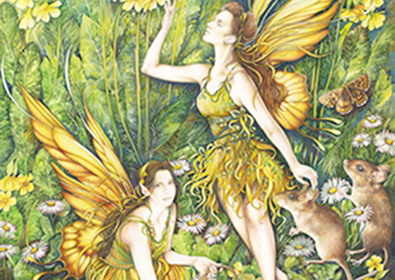Detail from the Cowslips Fairy illustration