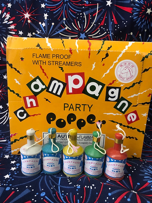 Champagne poppers 5pcs