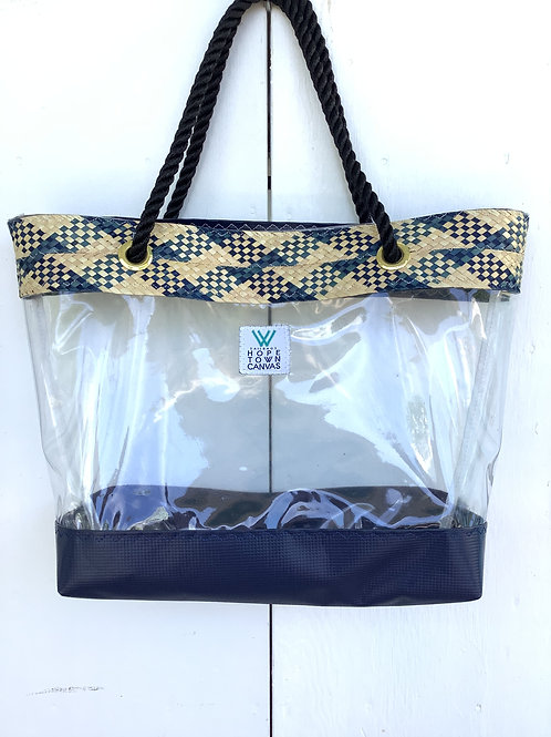 Clear/straw Beach Tote