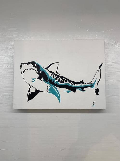 Shark painting