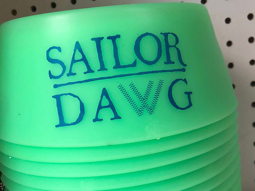 Folding Glow-In-The-Dark Pet Bowl