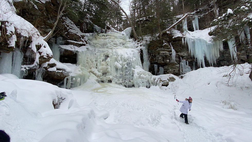 Winter Waterfall Ice Hiking at Ricketts Glen State Park with Valley to Summit.jpg