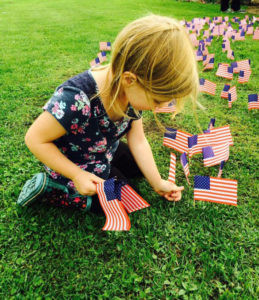 "# 37, September 15 Issue THESE ""KUTE KIDS"" ARE... Madelyn and Mallory Quinn, age 4, twin daughters of Nicho-las and Amanda Quinn. They helped their Aunt Amy Quinn, daughter of Rich and Pam Quinn, set up a tribute to the fallen fire fighters/police/ EMS of 9/11 in the front yard of Rich and Pam's home in Watervliet. Each flag had individual names of the fallen."