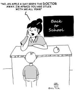 w cartoon August 25 TCR toon back to school