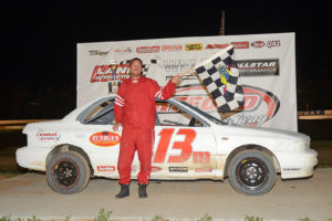 HARTFORD SPEEDWAY… Federated Auto Parts Stock driver Andrew Mayer nabbed his second career win Friday night, June 24. (Photo by Tom Willavize)