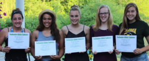 COLOMA HIGH SCHOOL STUDENTS WIN AWARDS… Southwestern Athletic Conference awards were given to pictured (from the left): Senior Tristin Hicks, Senior Tristen Howard, Senior Paige Derrick, Junior Hannah Palmer and Junior Alyssa Bahr.