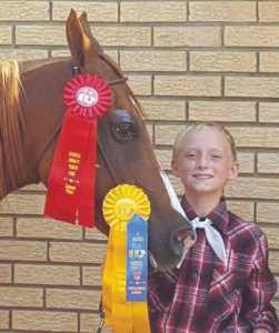 ZACHARY KUEHL… 11, re-ceived a 2nd place in Horse-manship and a 3rd place in Pleasure. He is a sixth grade student at Watervliet Middle School. The son of Stacy and Elden Kuehl, he has been show-ing at the fair for five years.