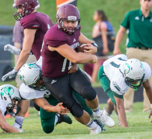 RENDO RIPS THROUGH THE HARTFORD D-LINE… Watervliet quarterback Cam Rendo led the Panthers to an 86-0 season opener at home on Friday. Rendo, a senior, com-pleted 14 of 18 passes for 240 yards and earned a QB rating of 158.6%.
