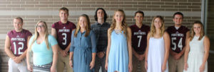 WHS HOMECOMING 2016 KING & QUEEN CANDIDATES… are pictured, back row (from the left): Came-ron Rendo, Tyler Brant, Spencer Goodrich, Devon Flowers and Bradley Yazel. Front row (from the left): Karli McClendon, Mercede Daugherty, Kaylee Chapin, Logan Mizwicki and Jade Miller.