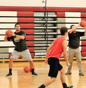 PROM IS NEW COACH AT WATERVLIET… Watervliet boys' varsity basketball program is now under the leadership of first time head coach Chris Prom.  Prom and his squad began practicing for the upcoming season which starts December 6 at home against Bloomingdale. (TCR photo by Kristy Noack)