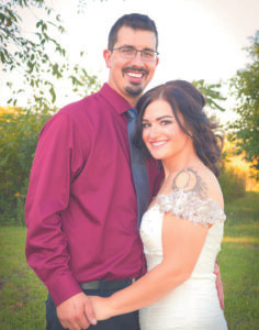 Soulard & Prestidge wedding announcement Taylor Renee Soulard and Mat-thew Brandon-James Prestidge united in marriage on Saturday, September 17. Taylor is the daughter of Kelli & Greg Muth and the late Steven Scott; she is the granddaughter of Dennis & Valerie Soulard. Matthew is the son of Della & Bill Hodge and Jim & Chris Prestidge. The ceremony and reception were both held at the home of a family member in Hartford. Pastor Kevin McLemore offi-ciated the ceremony. Taylor was given away by her grandfather Dennis Soulard. Matron of Honor was Amanda Williamson; Maid of Honor was Olivia Knight; bridesmaid was Jen Warsko. Best Men were Nick Schultz and Jake Elliott; Groomsman was Blake Burkett. Flower girl was Raeghan Pres-tidge, daughter of the couple. Wedding music was provided by Joe MacMillan, family friend. Photographer was Kim Boyer of KB Photography. Following the wedding, the newlyweds took a family trip with their daughter Rae to Dis-neyworld. They now reside in Coloma.