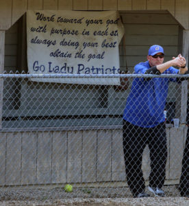 JEWELL RETIRES FROM GRACE CHRISTIAN SOFTBALL… Grace Christian head coach John Jewell an-nounced his retirement follow-ing the softball season this year. Jewell has headed the softball program at Grace for 17 years. (TCR photo by Kristy Noack)