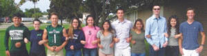 ALL HAIL THE KING AND QUEEN… Nominees for Hart-ford's Homecoming King and Queen are pictured (from the left): Alberto Ibarra-Victoria, Sierra Swearengin, Samuel Shank, Mariah Costner, Sarah Rice, Carmen Calvillo, Jake Griffith, Rosa Delgado, Luke Birkhead, Sandra Perez and Hunter Ackerman. Not pictured is Ricky Austin.