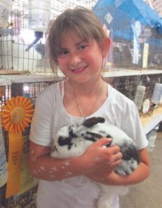 KYRA KRIEGER… 9, of Co-loma won 3rd place for her show rabbit and 5th place in the rabbit costume contest. Kyra attends Lake Michigan Catholic Schools. She is the daughter of Valerie and Christian Krieger. (TCR photo by Annette Chris-tie)