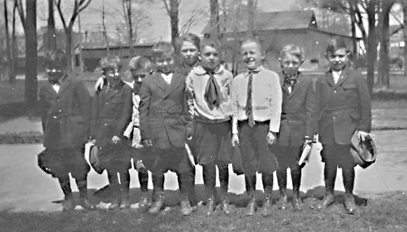 Nine Watervliet schoolboys were either photographed during the 1923 school year or, the photo is much earlier and the boys will graduate in 1923. This detail is unknown. It is known that one of them is Arthur Miller. If you know anything about this photo, you are urged to contact North Berrien Historical Museum at 269-468-3330 or info@northberrienhistory.org.  North Berrien Historical Museum is open for private tours, Tuesday through Friday 10-4. From the photo collection at the North Berrien Historical Museum 300 Coloma Avenue, Coloma