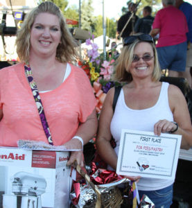 WINNING BAKERS… Amy Podman and Jen Springer were both winners in this year's Glad-Peach Bake Fest. As winner of Best of Show, Podman received a brand new Kitchen Aid Stand Mixer donated by Honor Credit Union. (TCR photo by Christina Gelder)