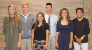 WHS HOMECOMING 2016 PRINCE & PRINCESS CANDIDATES… are pictured (from the left): Juniors Zoe Smith and Zack Pickens, So-phomores Isabella Hook and Manny Guzman, and Freshmen Ashley Bumstead and Noah Weber.