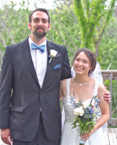 NEWLY WEDS… Dane Burnhardt and Catherine Ella Oehling were married on June 18, 2016, in St. Joseph, Mi. The wedding reception was held in the beautiful surroundings of Sarett Nature Center. Dane's parents are Mike and Barbara Bernhardt of Denver Co. Catherine's parents are Karl and Hyosun Oehling of Bainbridge Twp.