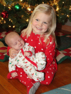 """""""Kute Kids""""… THESE """"KUTE KIDS"""" are... Adelyn Tyler holding Preston Tyler, daughter and son of James and Jessica Tyler. Granddaughter and grandson of Barb and Warren Tyler; Dan and Char Tyler; Val Gar-land; Ken and Becky Garland; Sandra Garland; Maxine Mock; and Mike and Mary Shotts."""