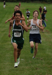 FRANCISCO FINISHES FAST… Hartford's Francisco Loera was the first Indian fi-nisher last Thursday in the Teske Invitational. Loera's time of 20:53.2 was good for 20th place. (TCR photo by Kristy Noack)