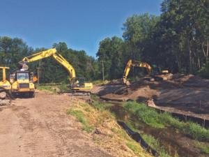adj county drain work