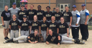 DIVISION FOUR DISTRICT CHAMPIONSHIP GOES TO GRACE CHRISTIAN… After defeating Saugatuck 2-1 in a nine-inning battle, Grace Chris-tian faced Martin in Division 4 district softball on Saturday. The Lady Patriots went on to shut out Martin 7-0 to take the district crown.