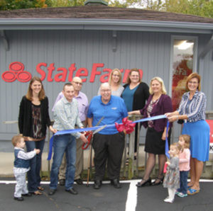 TODD S. KORABIK STATE FARM INSURANCE AGENCY… held an official grand opening and ribbon cut-ting on October 19, 2016. Todd opened his doors on July 1 and has been busy meeting with clients, doing business and getting involved in the Colo-ma/Watervliet area. Stop in to check out this new business at 6560 Red Arrow Hwy in Coloma. This former chiropractic office has seen a complete updating of the inte-rior with fresh paint new carpet and a very nice facelift on the outside. Pictured in the photo are (from the left) Kelly Kora-bik, Todd Korabik, Coloma Township Supervisor Ken Par-rigin, Coloma City Mayor Jim Polashak, Todd's staff Erica and Bobbie Jo, Chamber President Karla Smothers and Chamber Ambassador Stacey Davis. The little ribbon holders are Todd and Kelly's twins, Isaiah and Isabella, and niece, Presley. Todd can be reached at the of-fice at (269) 202-7159. We wish Todd and the gang much success!