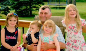 """""""Kute Kids""""… THESE """"KUTE KIDS"""" ARE... grandchildren helping Dale Kaucher of Coloma celebrate his birthday. The children are (from the left) Lila (6), Jacob (1-1/2), Paige (4), and Allison (8). Lila and Allison are the children of Matt and Betsy Gilbert of Clarkston, MI; and the parents of Jacob and Paige are Rob and Stephanie Zdrodowski of Canton, MI."""