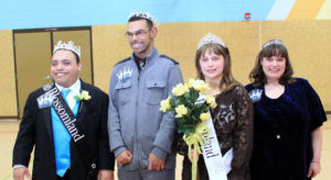 MISS AND MR. BLOSSOMLAND FOR 2016… were crowned at the fourth annual Blossomland Learning Center contest on Friday, November 18. Pictured (from the left) are: Mr. Blossomland Anthony Belfino, Runner-up Jordan McClinton, Miss Blossomland Rebekka Stanley and Runner-up Rebecca Wilson. The court will represent their school at several Blossomland Learning Center functions, Berrien RESA's Festival of Families, a parade, and other area events.